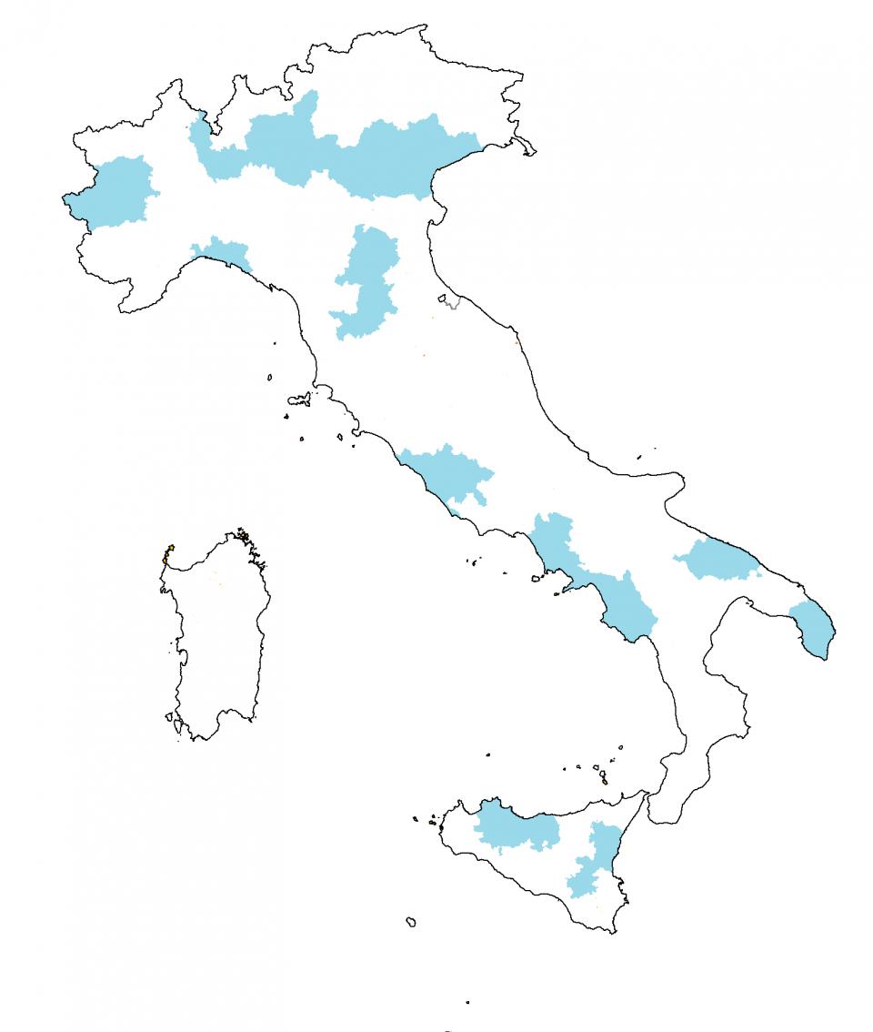 mappe 1 le province d italia popolazione giunta